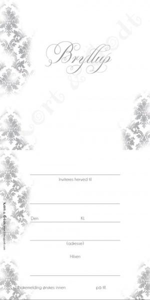 d57654f1 K&G; Invitasjon Bryllup 5009 - Scrappiness AS